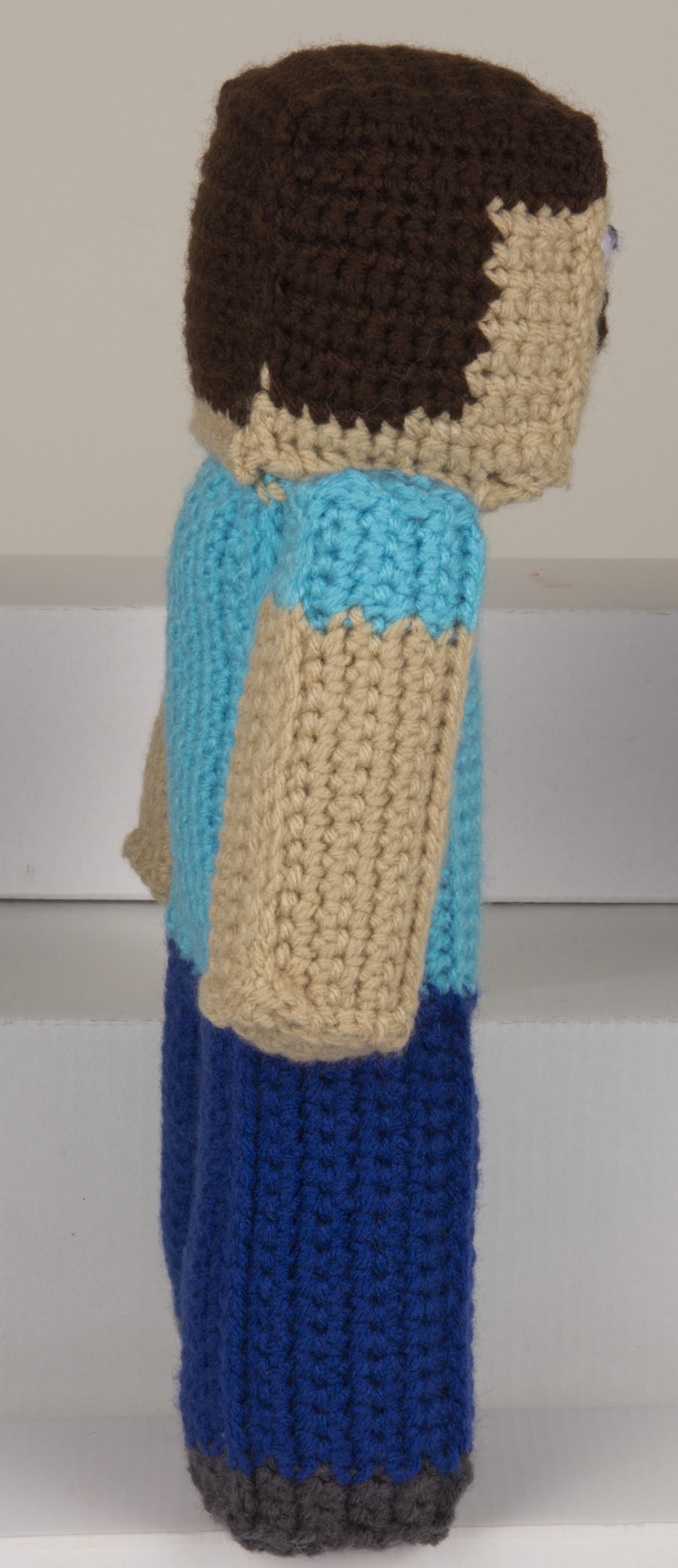 Second Crocheted Minecraft Steve Doll Yochet